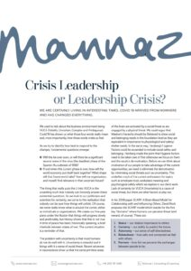 Crisis Leadership, Paul Blackhurst, Mannaz