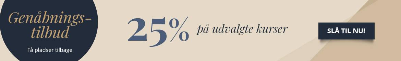 Spar 25% på udvalgte kurser